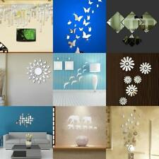 Modern Acrylic Plastic Mirror Wall Room Decal Mural Decor Vinyl Art Stickers