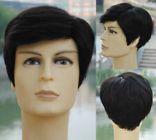 Big scalp Real human hair Man's wig men full wigs toupee human hair toppers PAPA