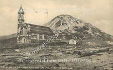 Donegal Dunlewy R.C. Church and Errigal Mountain Old Irish Photo Print