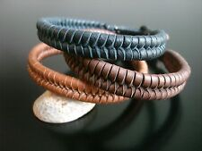 leather bracelet surfer tribal ethnic deerskin leather lace