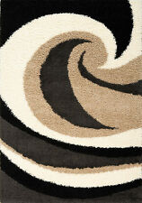 Kalora Shaggy Wave Black/Beige Area Rug