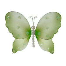 The Butterfly Grove Isabella Pearl Butterfly Hanging Organza Nylon 3D Wall Decor