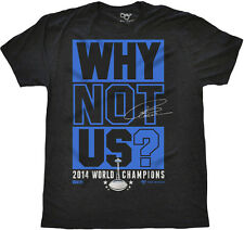 Seattle Seahawks Russell Wilson WHY NOT US? 2014 Champions Triblend T-Shirt NEW