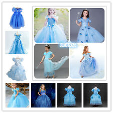 Hot.Sandy Princess Cinderella Cosplay Costume Kids Girls Party Fancy Dress Gown