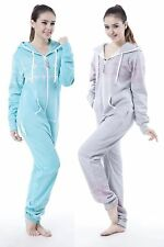Hoody Fleece Zip Unisex Romper Womens Lady Adult Romper One Piece Jumpsuit