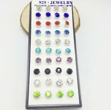 40PCS Sunflower Ear Women Rhinestone Earrings Jewelry zircon Crystal Stud
