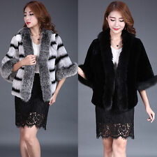 Real Rex Rabbit Fox Mixed Fur Coat Elegant Coat Women Winter Warm Coat Jacket