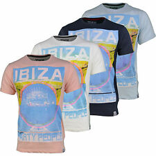 Soulstar Mens Designer Branded Ibiza Party Print T-Shirt - BNWT