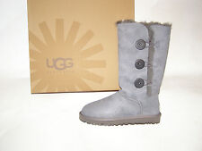 UGG Australia Bailey Button Triplet Tall Boots Gray Women's Size 6-10 NEW !!