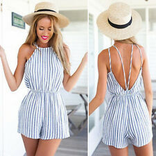 New Sexy Womens Ladies Playsuit Backless Party Jumpsuit&Romper Shorts Clubwear