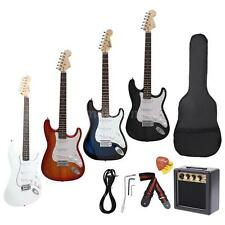 New Full Size ST Electric Guitar+3 Watt Amp+Gig Bag Strap+Free Ship Gifts X9L1