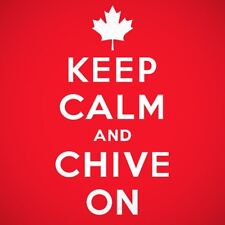 Authentic Canadian Keep Calm and Chive On Original Tee- KCCO - Size Large & XL