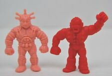 VINTAGE M.U.S.C.L.E. 1985 MATTEL KINNIKUMAN MUSCLE MEN lot of 2- FLESH & RED