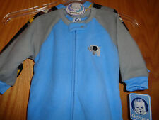 Gerber Baby Boy 18 Months Set of 2 Zippered Blanket Sleepers Blue NEW with Tags