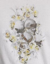 John Varvatos Star USA Men's Floral Skulls Crew T-Shirt Salt Cotton $88 msrp NWT