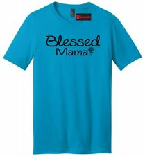 Blessed Mama Mens V-Neck T Shirt Mom Mothers Day Wife Gift Tee Shirt