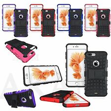 Rugged Hard Heavy Duty Stand Armour Shock Proof Builders Tyre Case iPhone 7 Plus