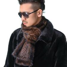 Men's 100% Real Genuine Knitted Mink Fur Scarf Shawl Low Profit Wrap 68.89*5.9