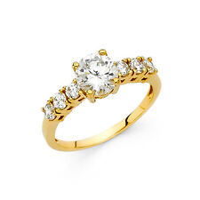 14k Solid Yellow Gold 1.75 Ct Diamond Engagement Ring Round Cut Solitaire
