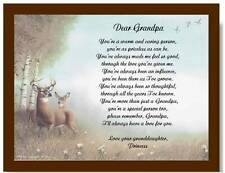 Grandpa Grandfather Personalized Poem Gift For Father's Day Birthday