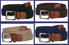 "Wholesale Men's Woven Braided Elastic Stretch Golf Belt 1-3/8"" 7001G"