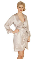 Absolute Glamour - Pure Mulberry Silk Dressing Gown NEW & PACKAGED
