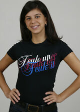 French Connection  Ladies tee FCUK UP/OFF/IT Size: XS Color: Black NWT