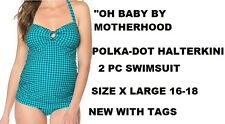 MOTHERHOOD MATERNITY POLKA-DOT SWIMSUIT SIZE X LARGE 16-18 NEW/TAGS