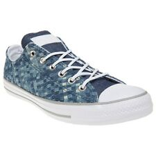 New Mens Converse Blue All Star Ox Canvas Trainers Lace Up