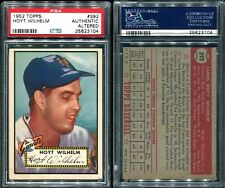 1952 TOPPS #392 HOYT WILHELM ROOKIE PSA 0 AUTHENTIC ALTERED (3104)