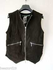 *NEW* PAUL HARNDEN SHOEMAKERS LEATHER JERKIN WOMENS GILET VEST JACKET (XS, S)