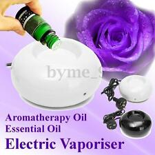 Black/White Ceramic Electric Aromatherapy Oil Burner Vaporiser Safer Meditation