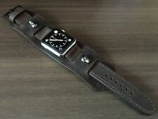 Real Leather watch cuff strap / Leather Cuff Band for Apple Watch - 42mm model
