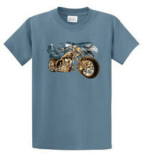 Eagle and Bike Mens Graphic Tee Shirts Reg to Big and Tall Size Port and Co