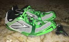 BROOKS PR MD 54.26 Mid Distance White Lime Green Track Spikes Shoes Womens 10 11