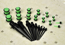 23 Pcs Stretchers Expander Set Ear Taper+ PLUG Kit 14G-00G 1.6mm-10mm Gauges