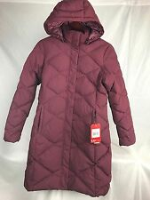 NEW THE NORTH FACE MISS METRO PARKA GARNET WOMEN DOWN JACKET INSULATED LONG M