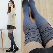 Womens Winter Soft Cable Knit Over knee Long Boot Thigh-High Socks Warm Leggings