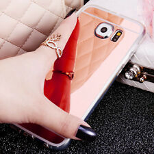Luxury Ultra-thin Soft Silicone TPU Mirror Case Covers For Samsung Galaxy Phone