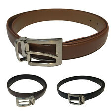 Genuine Leather Solid Square Buckled Suits Belts Business Casual Men Accessories