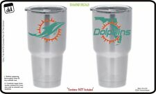 Miami Dolphins (Set of 2) for Yeti Tumbler Vinyl Decal Car Truck Cornhole NFL