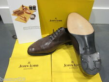 *NEW* JOHN LOBB PHILIP 2 PRESTIGE BEVELED OXFORD PEWTER MUSEUM CALF 7.5EE 9.5EE