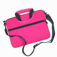 Hot Pink w/ Front Pocket Handle Business Briefcase School Messenger Laptop Bag