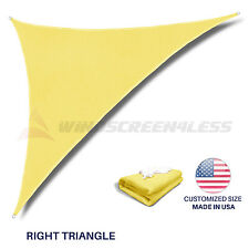 Sun Shade Sail Canary Yellow Triangle Canopy Awning  Patio Pool Outdoor UV Cover