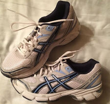 ASICS GEL-180TR Running Training Shoes Womens Size 8 White Navy Silver #S352N
