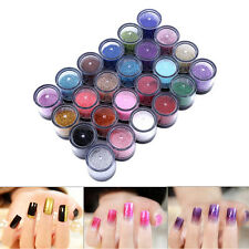 Mixed Color 3D Shiny Glitter Nail Art Kit Acrylic UV Powder Dust Tip Manicure TP