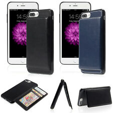 Deluxe PU Leather Card Slot Holder stand Back Case Cover For iPhone 6 6S 7 Plus