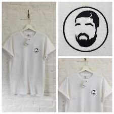 Actual Fact Drake Face Embroidered Supreme White Tee T-Shirt