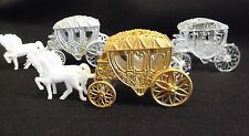 Cinderella Style Horse with Fillable Carriage Cake Topper  Fairytale Princess