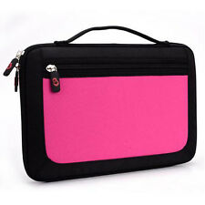 Pink w/ Front Package Hard Shell Briefcase Handle Case Bag for Android Tablet